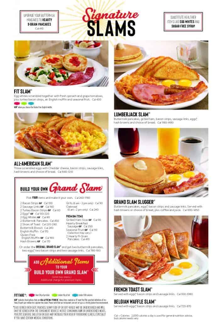 Denny's Menu Slams, Grand Slam