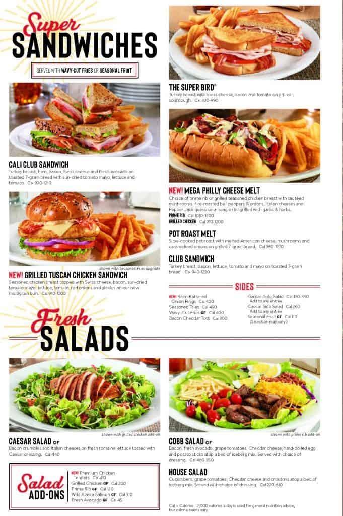 Denny's Menu Sandwiches