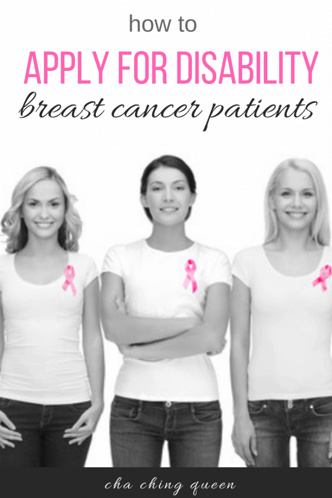 How breast cancer patients can apply for social security benefits for a disability with breast cancer