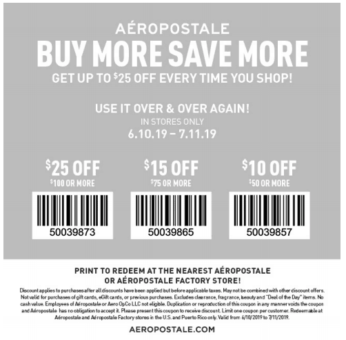 picture about Monterey Bay Aquarium Printable Coupon named Aeropostale Discount coupons - 2019 Printable Discount codes and Coupon