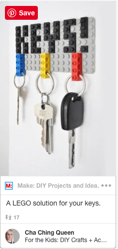 key organizer made out of lego