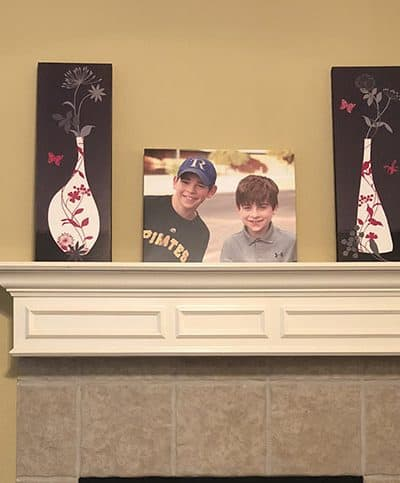 new mantle decor idea photo canvas