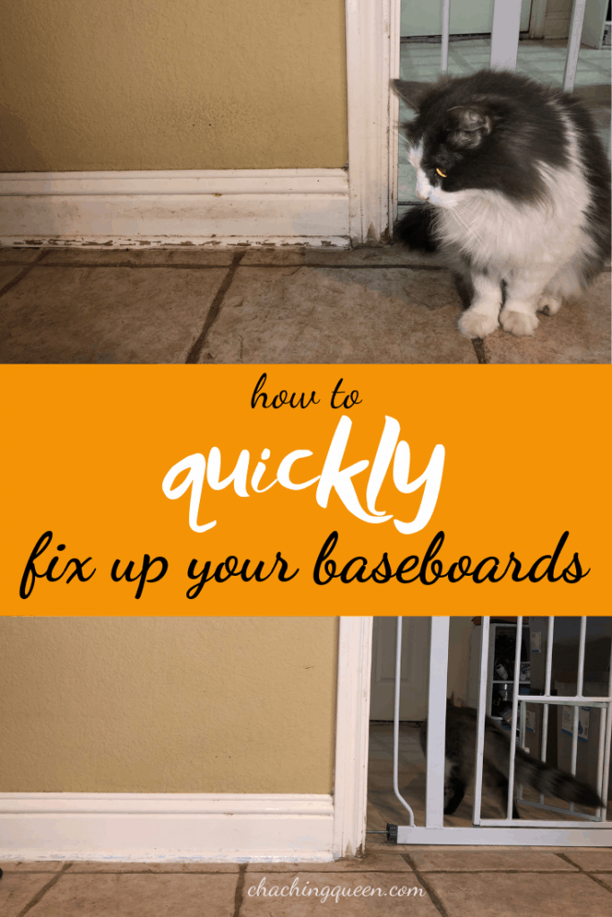 How to Quickly Fix Up Your Baseboards and Make Scratched Baseboards Look Pretty Again