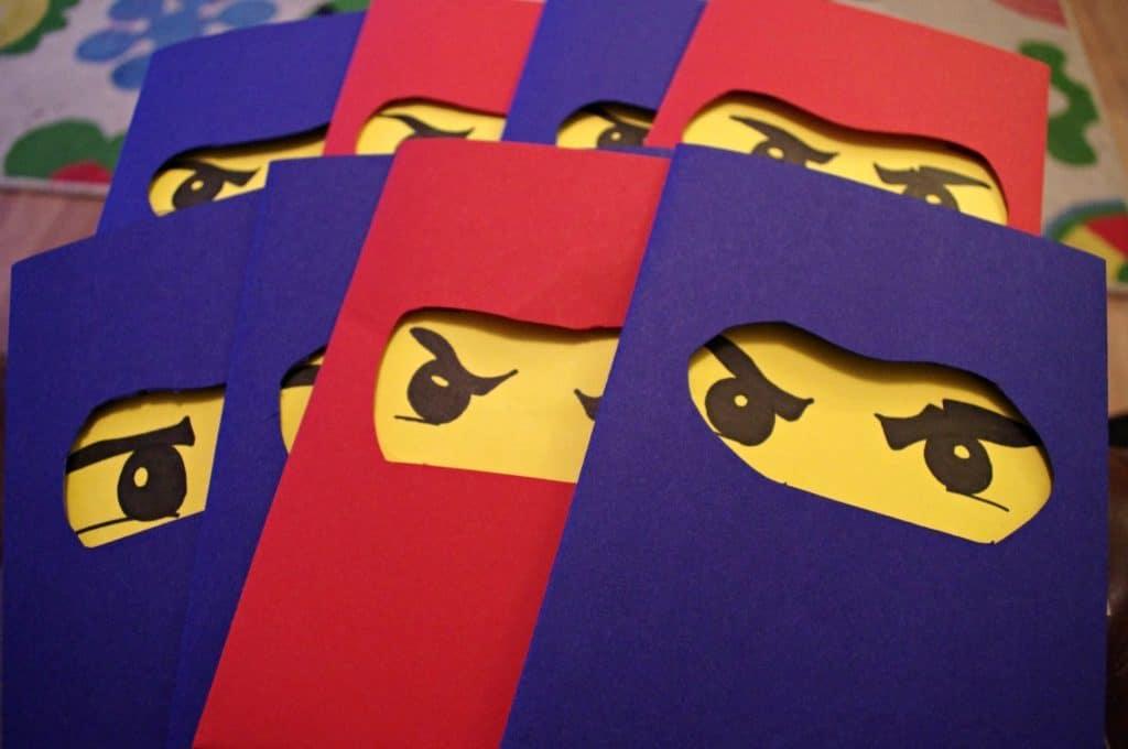 Tutorial For How To Throw A Lego Party DIY LEGO Ninjago Birthday Invitations