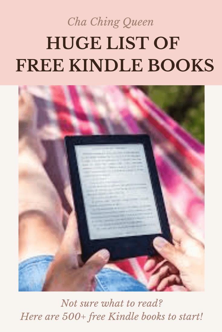 Big List Of Free Amazon Kindle Books