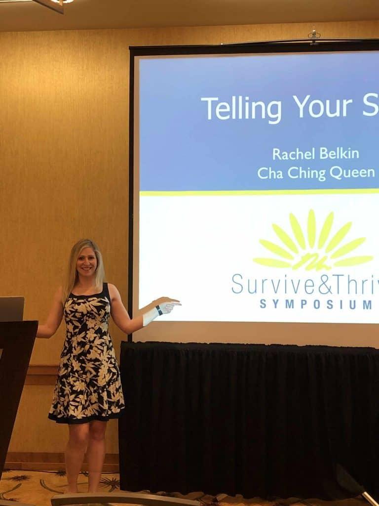 cancer survivor speaker at conference telling your story