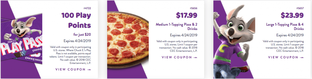 Chuck E Cheese Coupons April 2019 Free Tokens And Tickets