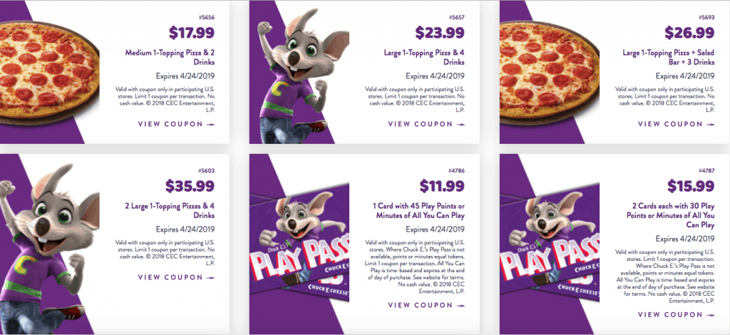 The Best 2019 Chuck E Cheese Coupons And Free Tokens Tickets