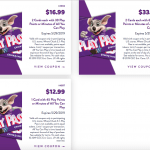 Chuck e cheese coupons tokens all you can play points may 2019