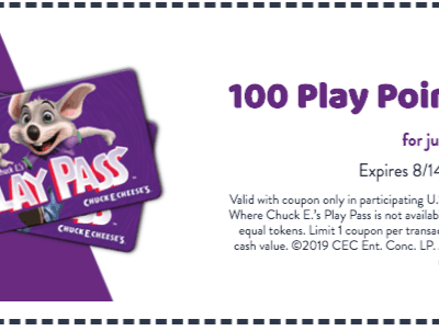 The Best 2019 Chuck E Cheese Coupons and Free Tokens & Tickets