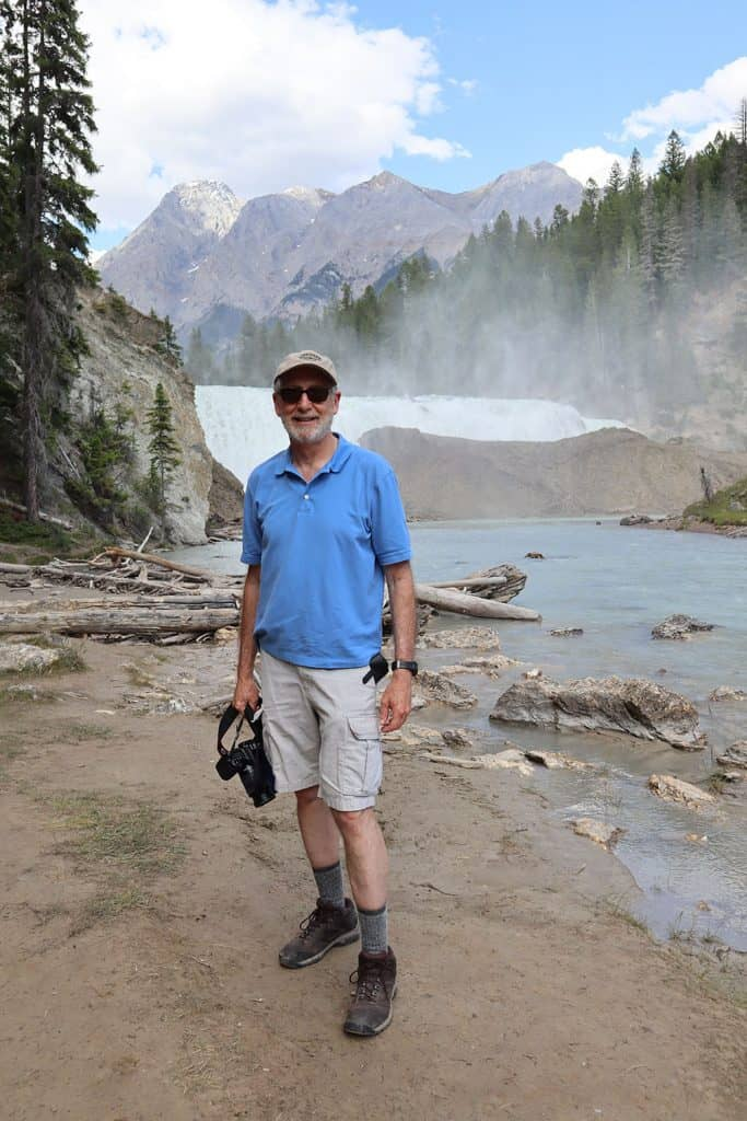 dad at wapta waterfall