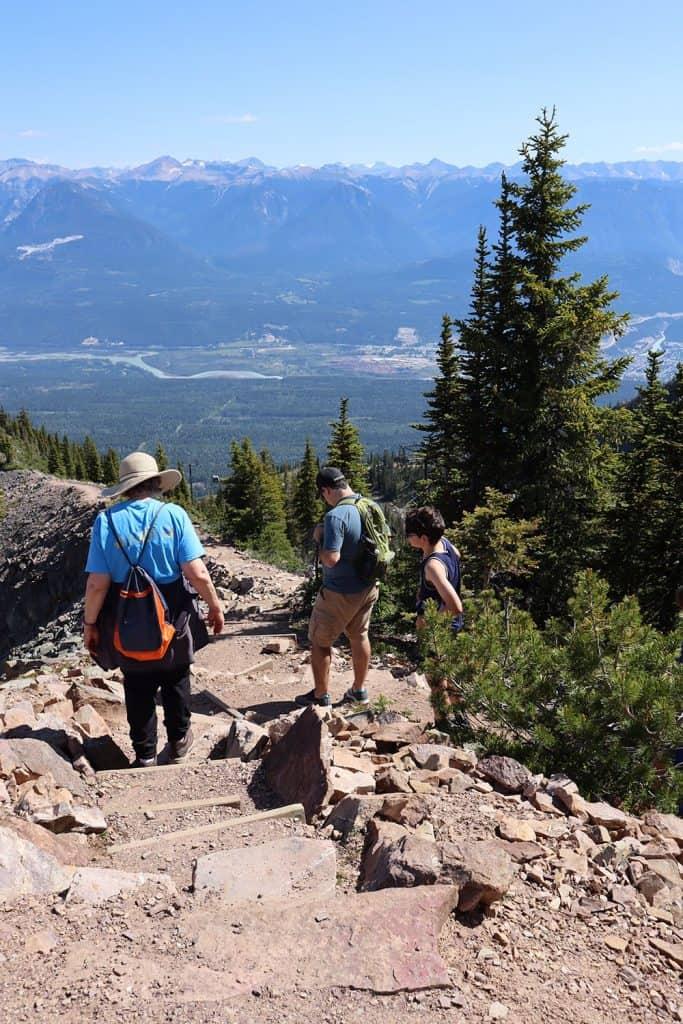 hiking in golden brittish columbia no brands