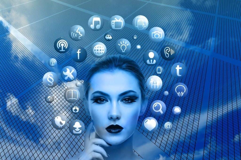 woman-social media engagement