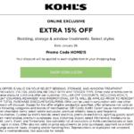 january 2020 kohls printable coupon for 15 percent off