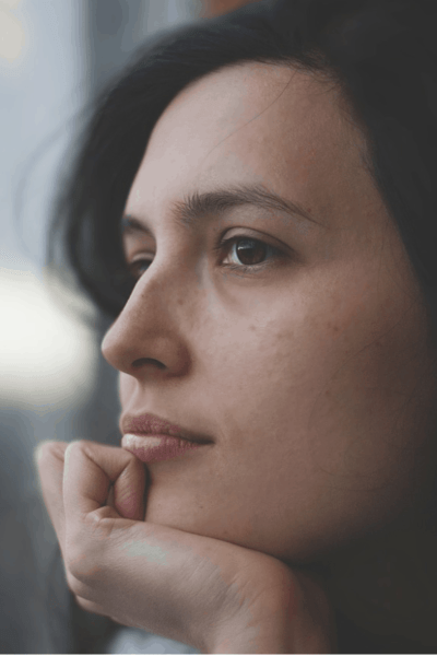 woman thinking about problems