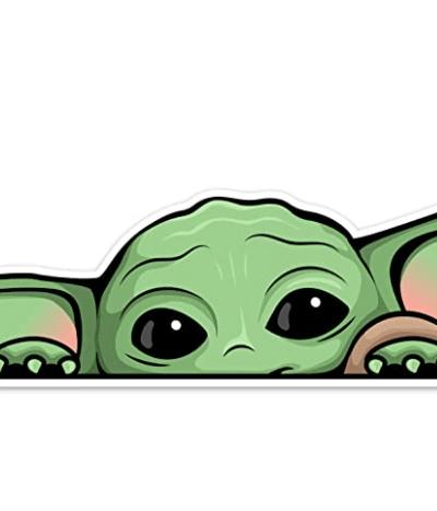 Peeking Baby Yoda Window Cling