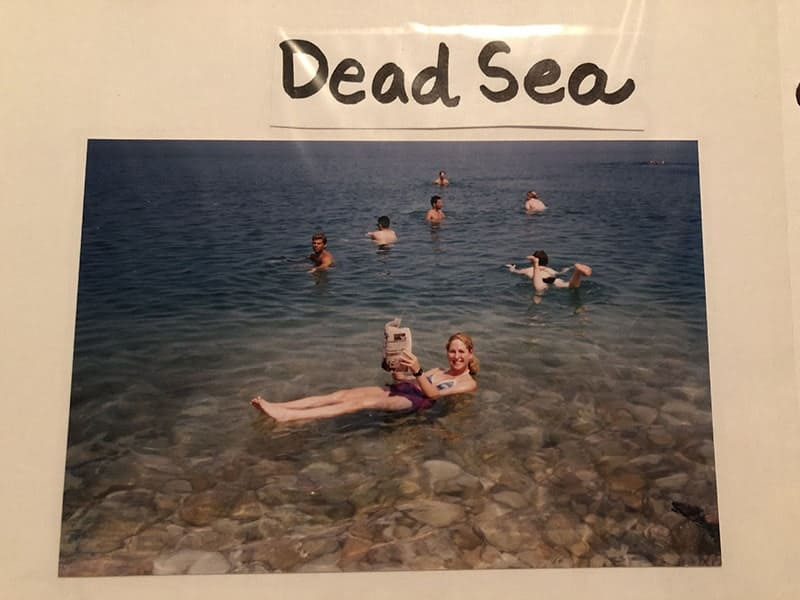 rachel at the dead sea in israel in 1998