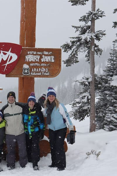 family ski trip to winter park colorado mary jane arapaho