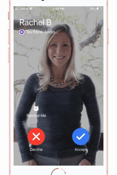 TextNow Rachel Incoming Call