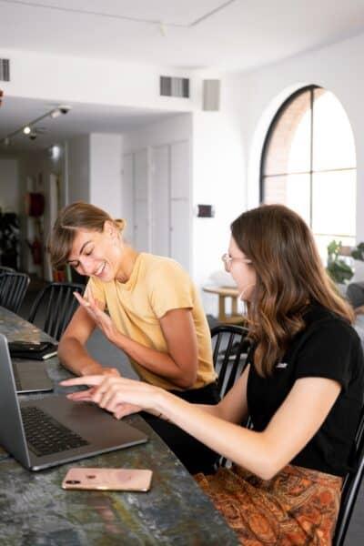 business women at desk