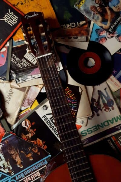 records vintage guitar