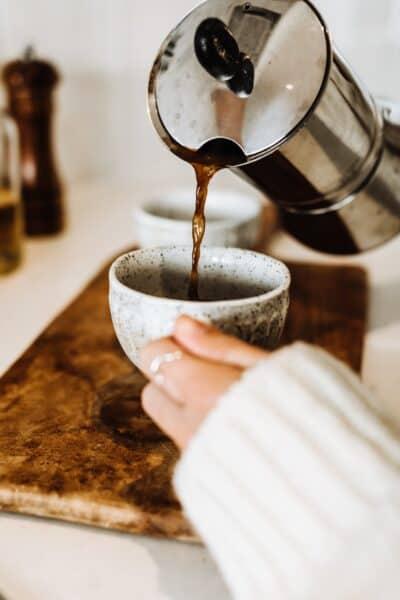 coffee pouring in a cup